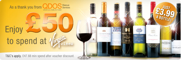Virgin Wine Offer - £50 to spend - QDOS Rescue Services